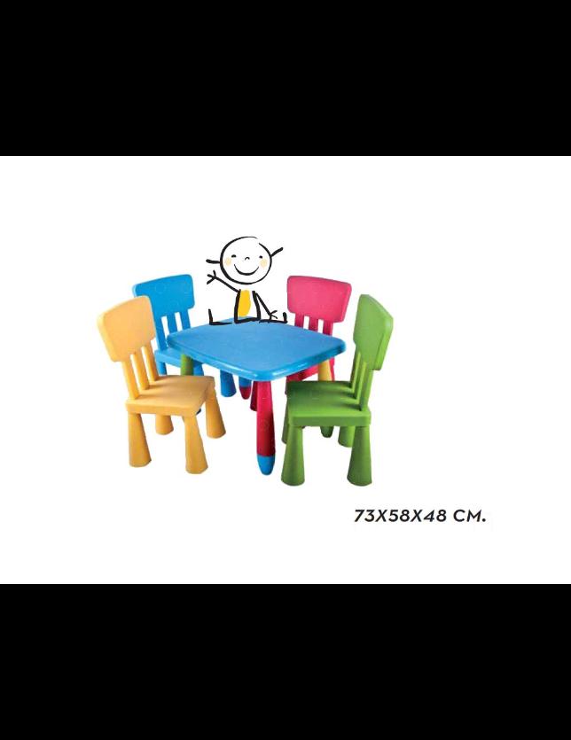 MESA INFANTIL RECTANGULAR CORES 22303