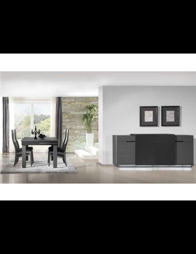 CONJUNTO SALA JANTAR CARBON (Aparador + Mesa + 4 Cadeiras)