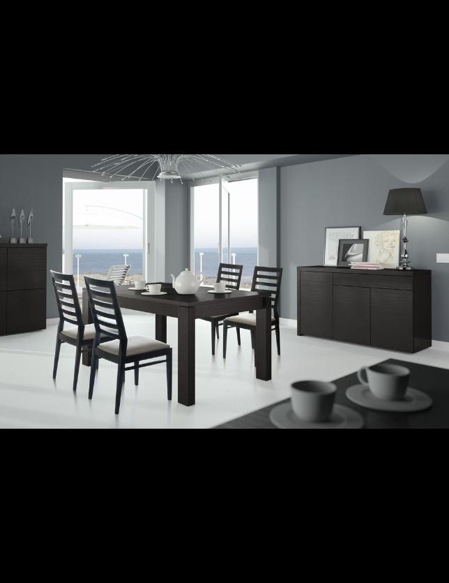 CONJUNTO SALA JANTAR NB 605 (Aparador + Mesa + 4 Cadeiras)