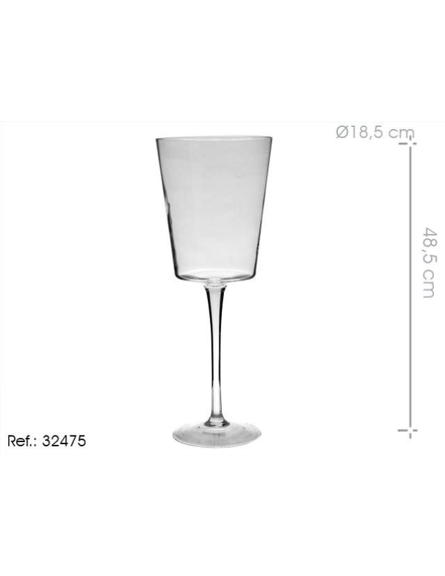 COPO VIDRO C/ PE LARGO 48.5CM - 32475