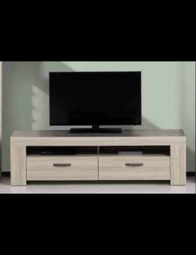 MOVEL TV 180 C/ 2 GAVETAS ESTORIL - OAK/GRIS