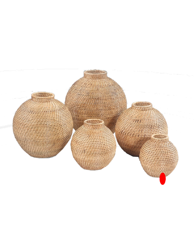 POTE DECORATIVO NATURAL RATTAN 20 - 31387