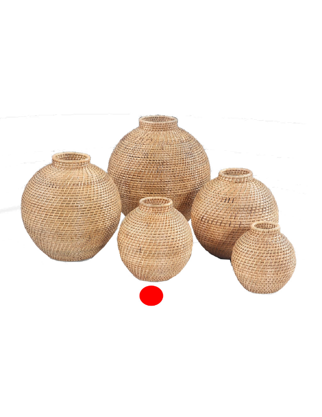 POTE DECORATIVO NATURAL RATTAN 25 - 31387
