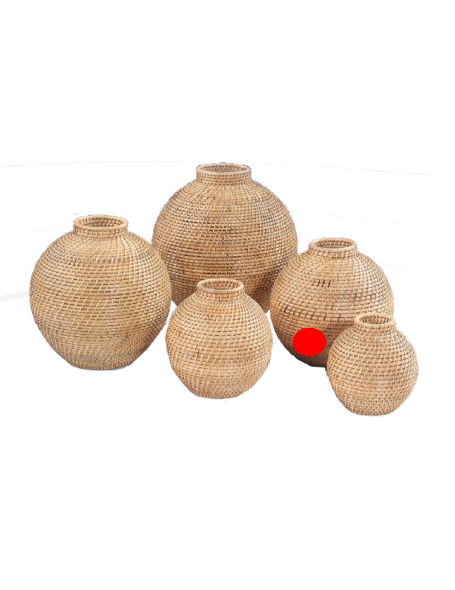 POTE DECORATIVO NATURAL RATTAN 30 - 31387