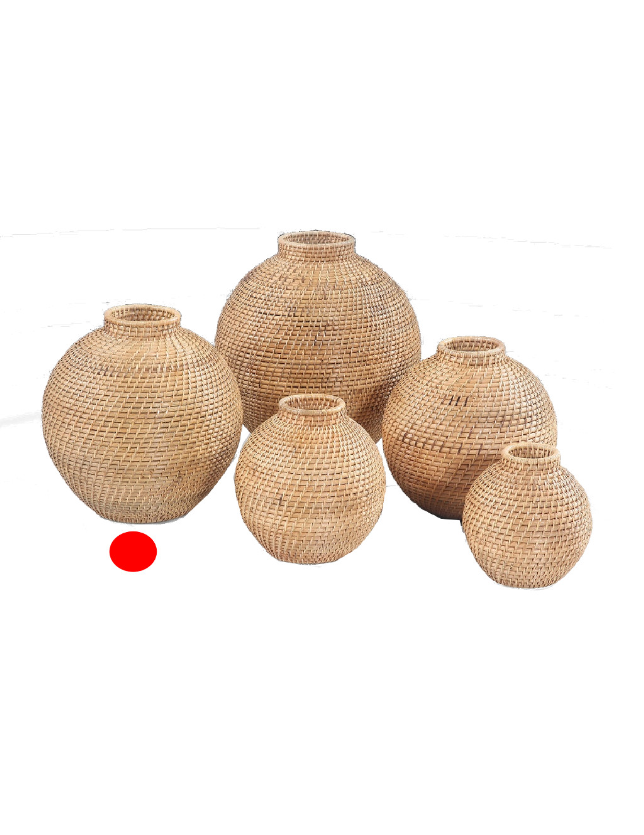 POTE DECORATIVO NATURAL RATTAN 35 - 31387