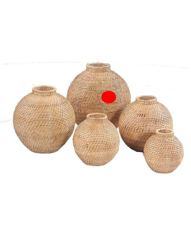 POTE DECORATIVO NATURAL RATTAN 40 - 31387
