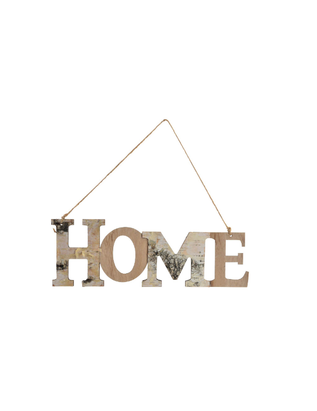 DECORACAO DE PAREDE MADEIRA 32*8.5 HOME - DH-143706