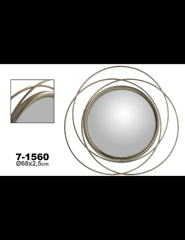 ESPELHO METAL PRATEADO 68*2.5 - 71560