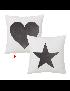 ALMOFADA 2/M HEART E STAR POLIESTER 45*45 - 122395