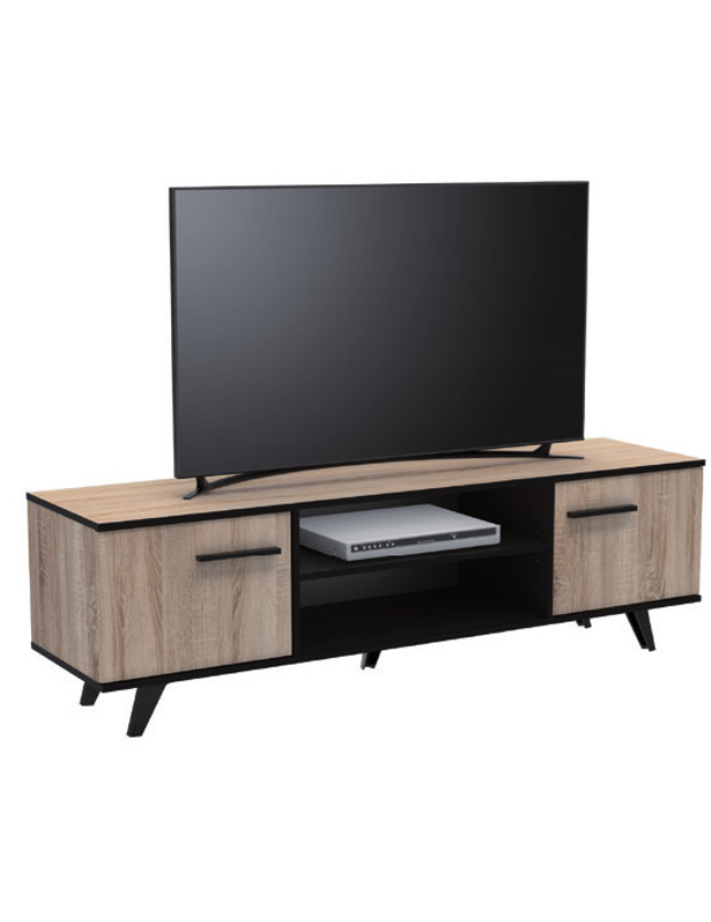 MOVEL TV 2 P + PRATELEIRA WAYNE BRUSHED OAK (KIT) - 355170