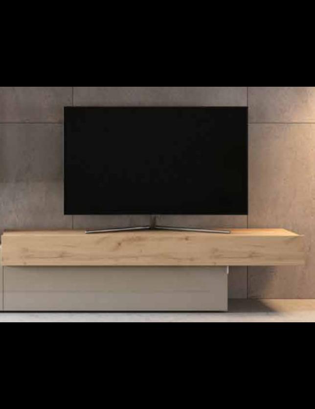 BASE TV AURA 2 PORTAS ABATIVEIS DIREITA 160*42.2*44 - REF. A-3 d