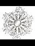 DECORACAO DE PAREDE METAL 100*9*100 CIRCULO - DP-157052