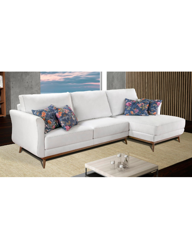 SOFA 3 LUG + CHAISE OLAF - TECIDO OF