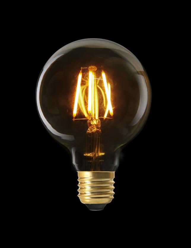 LAMPADA LED G80 E27 FILAMENTO RETO 2W - AM0004