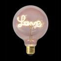 LAMPADA LED G125 E27 FILAMENTO LOVE ROSE 4W M8 - AM0046